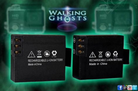 2x Spare Batteries for Full Spectrum Ghost Parannormal Camera SJCAM Action /UK